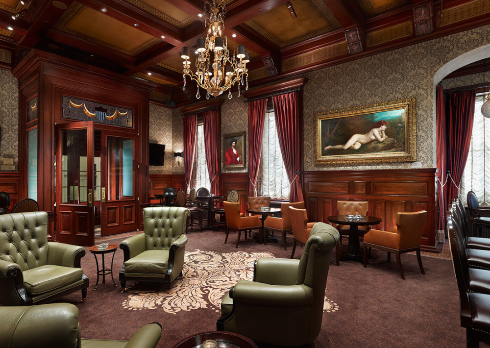 cigar lounge at the union league blta. Black Bedroom Furniture Sets. Home Design Ideas